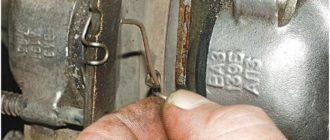 Замена тормозных колодок ВАЗ 2107